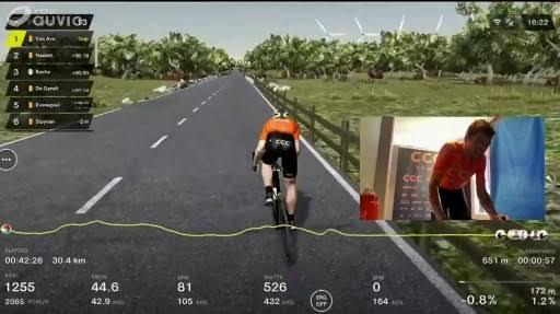 sanal ortamda bir bisikletçi görülüyor